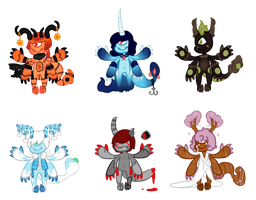 Clawmaw collab auction batch. -Opan- by OfficerMittens