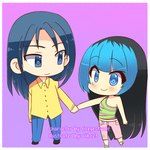 Commission: Kouji and Ami by riiko23