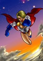 PowerGirl colored by JamieFayX