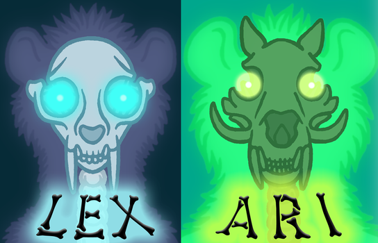 ghostly skull badges by lexblue
