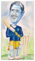 Caricature-Dhoni by kp1986