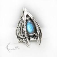 ENTUMINARH  - silver and labradorite by LUNARIEEN