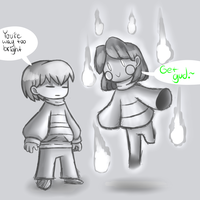 Frisk and Chara stream doodle by ReneesDetermination