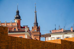 Roofs Over Synagogue Square by marrciano