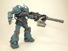HGUC Gouf Custom left side by GameraBaenre