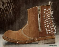 Boots Of Travel by unerde