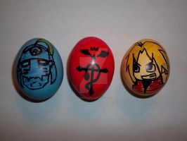 Edward and Alphonse Eggs by icygumball3000
