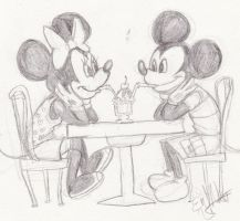 Mickey and Minnie by SkuldNevermore