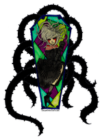 Stain Glass Coffin by CarpeDiemCarousel