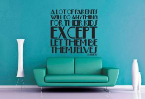 Let Kids Be Themselves Wall Decal by GeekeryMade