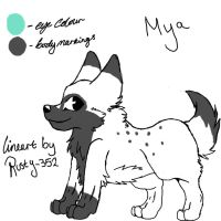 reference sheet_mya by P0CKYY