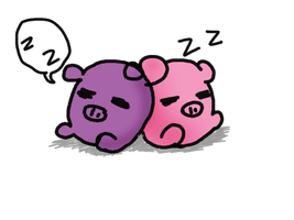 Pig Pillow Sticker by selenaloong