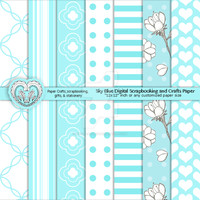 Sky Blue Digital Scrapbooking and Crafts by anwaarsaleh
