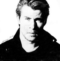Gift: Chris Hemsworth by Ninzz-MiniGoth