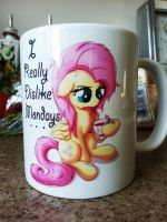 Fluttershy Mug by Bugplayer