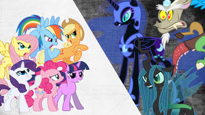 Mane6 Vs Villains V2 AS Wallpaper by armando92