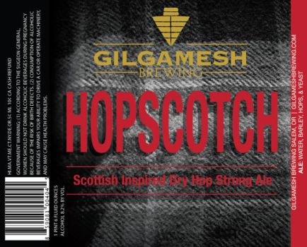 Gilgamesh Brewing - Hopscotch Label by filly4585