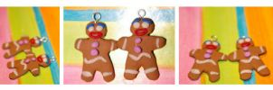Gingerbread man charms by Plastic-pearl