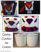 Geeky Cookie Jar Cozies by SoandSewPlushies