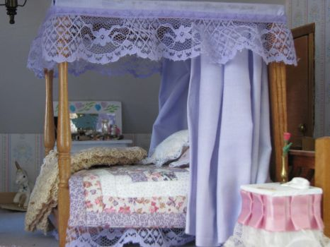 English Country House Bedroom Canopy Bed by duskofinnocence