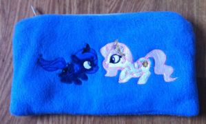 Filly Luna and Celestia Pencil case by GrayTheZebra