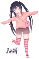 Nakano Azusa render by Ruby by SpinelNightmare