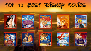 Top 10 Favorite Childhood Disney Movies by PurfectPrincessGirl