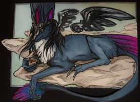Moa ACEO by whitew3r3wolf