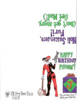 Harley Birthday Card by MidnightMadwoman