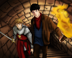 Merlin and Arthur by Deniigi-Studios