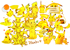 Pikachu Desktop BG by vivsters