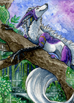 ACEO: Enchanted forest by Eleweth