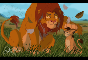 Simba and his grandson by Gashu-Monsata