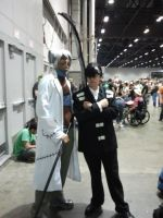 Megacon 2014: Dr.Stein and Death the kid cosplay by Oblivion-Evil