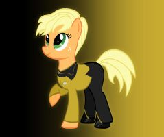 Applejack as Tasha Yar Redux by Athos01