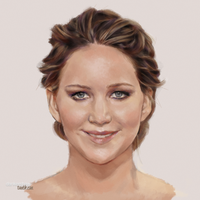 Jennifer Lawrence #GoldenGlobes2013 by dankershaw