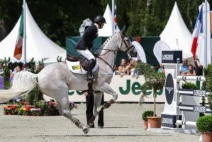 3DE Show Jumping Phase Stock 107 - Taking Off by LuDa-Stock