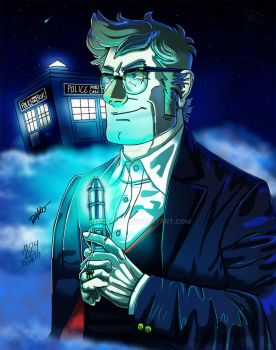 Stanford  Pines as the Doctor by halcon24