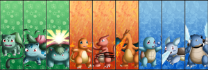 Pokemon Kanto Starters- bookmarks by izka197