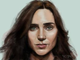 Jennifer Connelly sketch 2 by tonyob