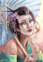 Geisha lady by Kerozzart