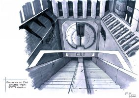 CST entrance station- concept by Hideyoshi