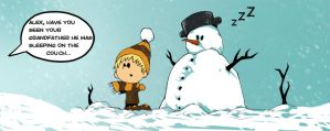 Making snowman by cury