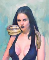 snake lady comission by Gregory-Welter