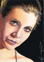 Princess Leia ACEO by JohnHaunLE