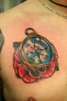 gold compass by tattooneos