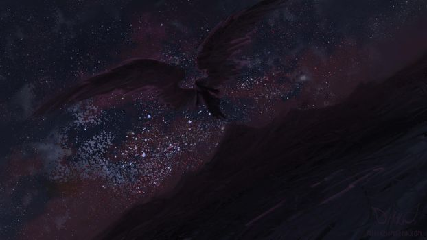 Speedpaint: The Black Angel of The Unseen World by DM7
