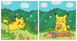 Pikachu Pair by Paleona