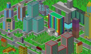 Pixel city by Burninmaned