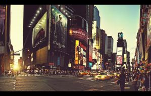 Times Square 42nd Street by crunklen